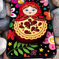 Flower Lady Russian Doll for iPhone 4/4s/5/5S/5C/6, Samsung S3/S4/S5 Unique Case *95*
