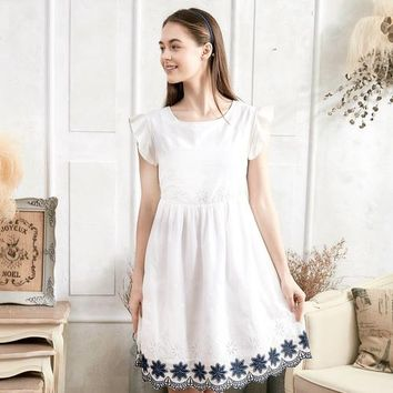 Floral Embroidered Fit & Flare Dress (woman)