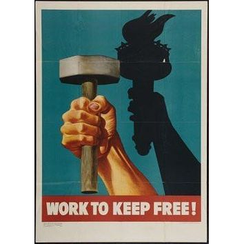 War Propaganda Effort poster Metal Sign Wall Art 8in x 12in