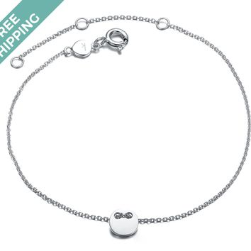 kiz&Co Sterling Silver Mini Button Bracelet