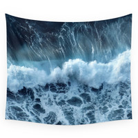 Society6 Sea Waves Wall Tapestry