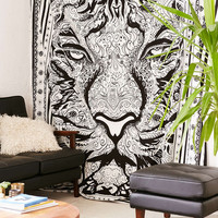 Magical Thinking Hand Sketched Tiger Tapestry - Urban Outfitters