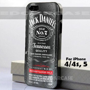 Jack Daniels Perfect Diet Cola - Cola - Ginger - Hard Cover - For iPhone 4 / 4S , iPhone 5 - Black / White Case
