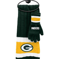 Green Bay Packers Scarf & Glove Gift Set