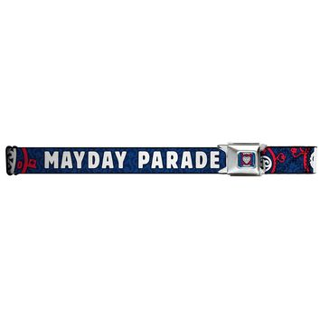Mayday Parade Men's  850 Heart Lock Seatbelt Buckle Belt