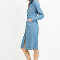 Contemporary Life in Progress Denim Shirt Dress