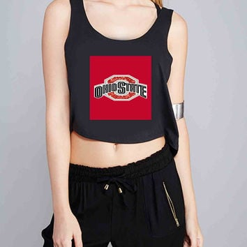 Custom rare Ohio State Buckeyes for Crop Tank Girls S, M, L, XL, XXL *07*
