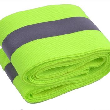 Reflective Tape Strip Sew-On Lime Green Gray Warn Caution Trim Fabric 3M Outdoor Sport Accessories Protection Alert Strips