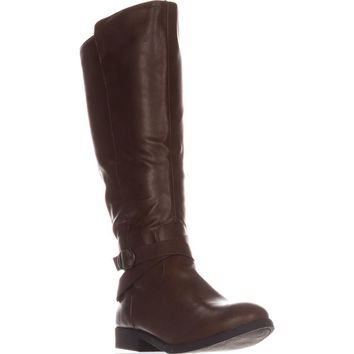 SC35 Madixe Wide-Calf Riding Boots, Cogna, 11 US