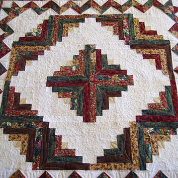 Table Topper Log Cabin Mini Quilt