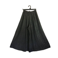Vintage Women Palazzo Pants Wide Leg Pants Women Black Palazzo Pants Evening Wear Women Culottes Women Clothing Women Clothes Ladies Clothes