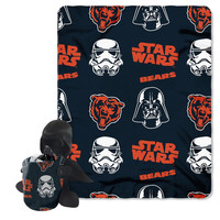 Chicago Bears NFL Star Wars Darth Vader Hugger & Fleece Blanket Throw Set
