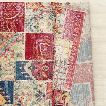 2069 Multi-Color Abstract Colorful Oriental Area Rugs