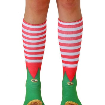 Elf Shoes Knee High Socks