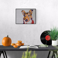 Pet Portrait: Smooth Collie, original art - pet lover gift - pet memorial - custom dog portrait - pet painting - personalized pet