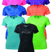 Chevrolet Ladies Rhinestone Bowtie T-Shirt-Chevy Mall