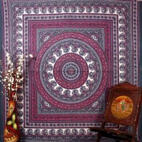 Bhagyoday Hippie Tapestries Wall Hanging , Indian Mandala Tapestry Bedspread , Dorm Tapestry , Vintage Decorative Wall Hanging , Traditional Tapestries for Dorms