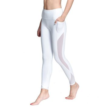 Legging For Women Hight Waist Yoga Pants for Women Fitness Mesh Workout Leggings Yoga Capris