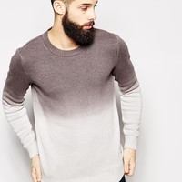 Only & Sons Dip Dye Knitted Jumper