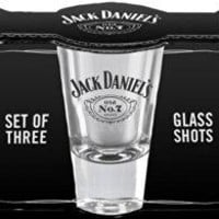 Jack Daniel's Licensed Shot Glass Gift Set of 3 Jack Daniel's Shot Glasses