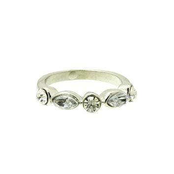 Simple Crystal Stone Metal Ring