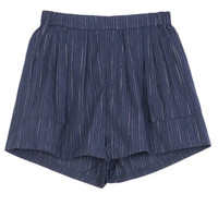 Rittenhouse - ELASTIC WAIST COTTON SHORTS - INDIGO STRIPE