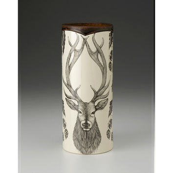 Laura Zindel Large Red Stag Vase