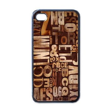 Apple iPhone Case - Retro Leterpress Vintage - iPhone 4 Case Cover