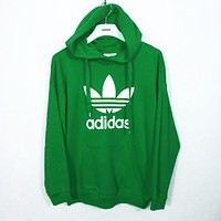"""Adidas"" Fashion Hooded Top Pullover Hoodie Green"