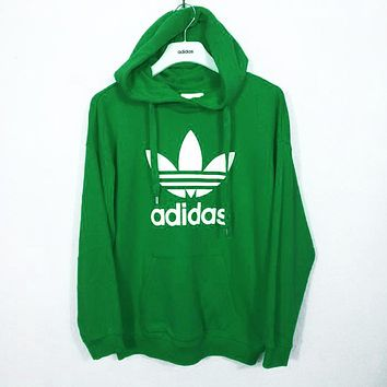 """""""Adidas"""" Fashion Hooded Top Pullover Hoodie Green"""