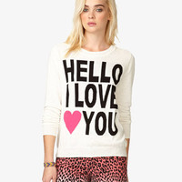 Hello I Love You Sweater | FOREVER 21 - 2039763596