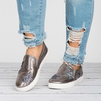 Metallic Glittery Star Sneakers
