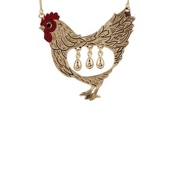 N2 by Les Néréides GOLDEN TALES THE GOOSE THAT LAID THE GOLDEN EGG LONG NECKLACE