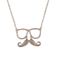 Sunglass Mustache Necklace