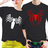 NSC-Spiderman Logo for Men and Women Couples Matching Shirts, Couples T Shirts, Funny Couple Shirts