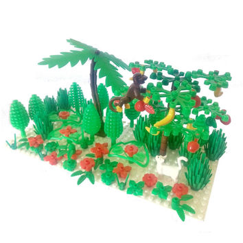2417 Limb 6064 bush 3778 tree 6255 Plant Flower Stem Animal MOC accessory DIY building block brick assemble particles brickset