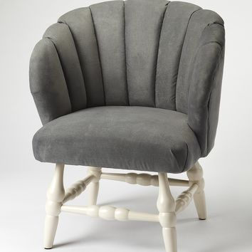 Malcom Gray Velvet Accent Chair