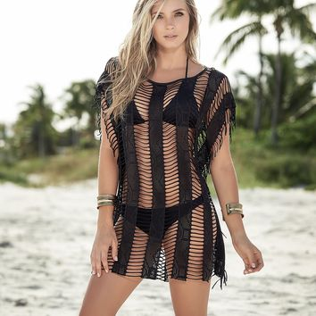 Sheer Black Luxury Cover Up