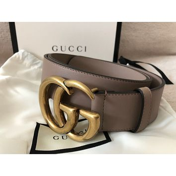 Gucci GG Marmont Belt Dusty Pink Leather 90cm or 35inches