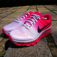 Cheap Nike Air Max 2017 Womens Running Shoes White Pink
