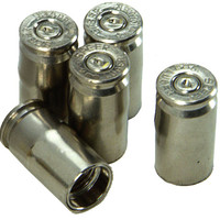 kNOw Where 2Jeep JO170N Bullet Valve Stem Caps in Nickel Plated Finish