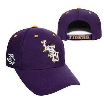Licensed Lsu Tigers Official NCAA Adjustable Triple Threat Hat Cap by Top of the World KO_19_1