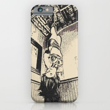 Art of Bondage - hanging like a sweet fuck toy, brunette in hard BDSM, enslaved girl, nude conte iPhone & iPod Case by Peter Reiss