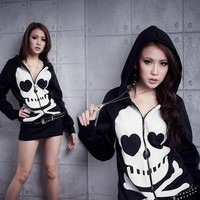 Kawaii Clothing | Chaqueta Calavera/Skull Hoodie WH356 | Online Store Powered by Storenvy
