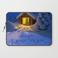 MERRY CHRISTMAS Laptop Sleeve by Acus
