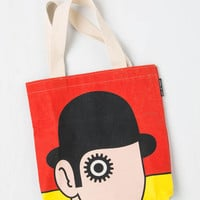 Out of Print Eco-Friendly Bookshelf Bandit Tote in Alex