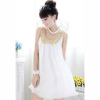 Sequined Sleeveless Chiffon Mini Dress