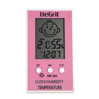 BeGrit Humidity Meters Hygrometer Thermometer for Baby Room Temperature Humidity Moisture Monitor with Smile/Unhappy Emotion Icon