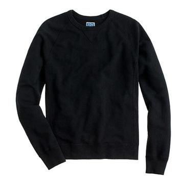 J.Crew Mens Tall Solid Sweatshirt In Black