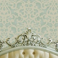 Wall Stencil Donatella Damask Allover Pattern for Wall Decor DIY Wallpaper Look